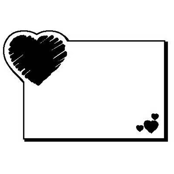 Rectangle with Heart Shape Magnet