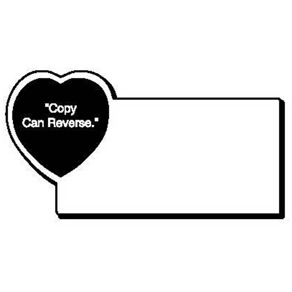 Rectangle with Heart Magnet