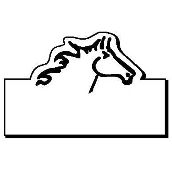 Rectangle with Horse Magnet