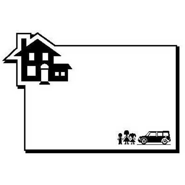 Rectangle with House Magnet