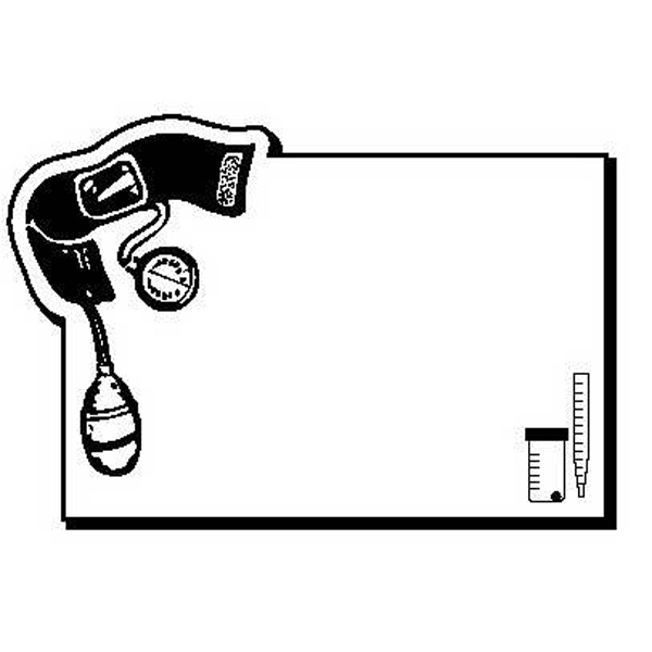 Rectangle with Medical Supply Design Magnet