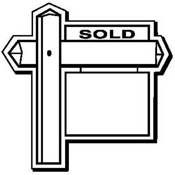 Sold Sign Shape Magnet