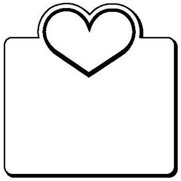 Square with Heart Stock Shape Magnet
