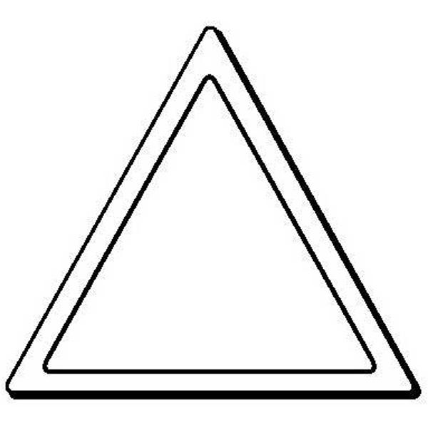 Triangle Stock Shape Magnet