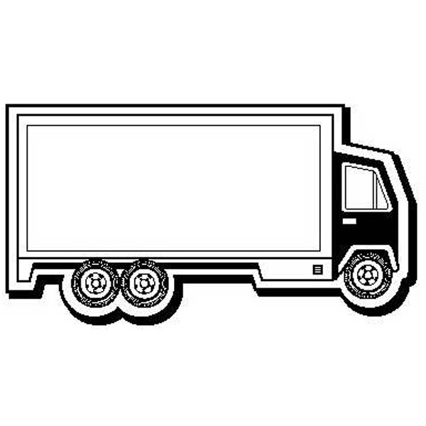 Delivery Truck Stock Shape Magnet