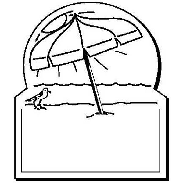 Beach Umbrella Stock Shape Magnet