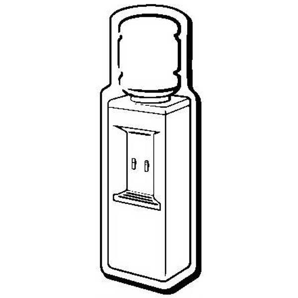Water Cooler Stock Shape Magnet