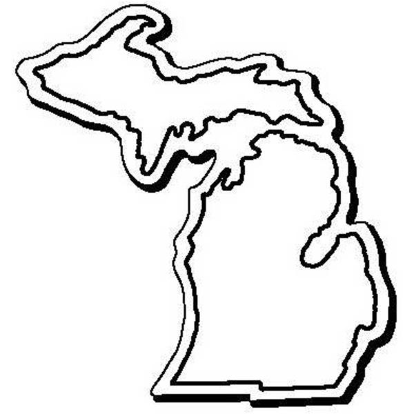 Michigan Stock Shape State Magnet