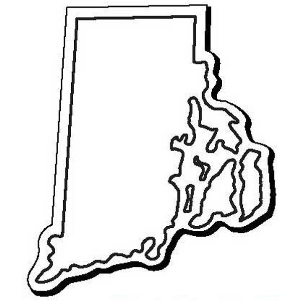 Rhode Island Stock Shape State Magnet