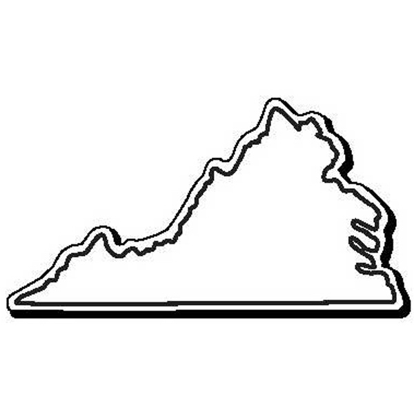 Virginia Stock Shape State Magnet