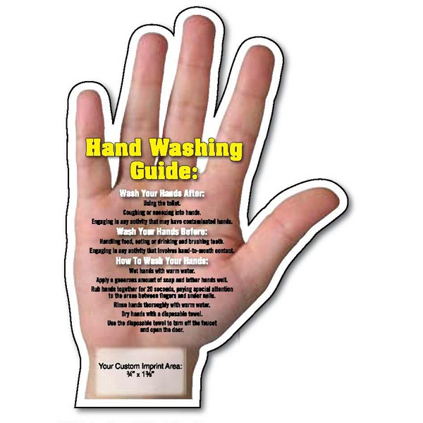 Hand Washing Tips Hand Shape Magnet
