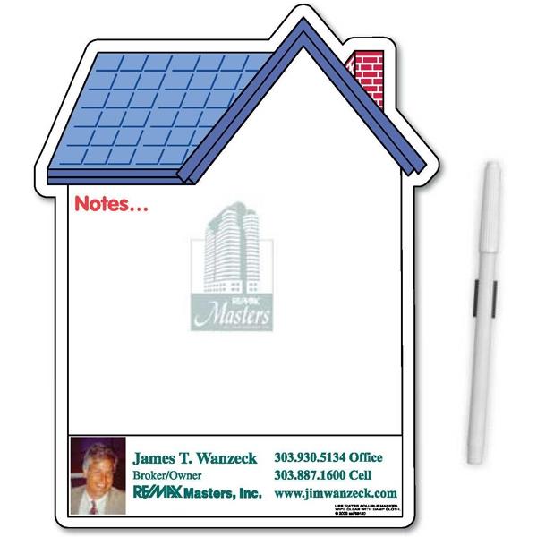 House Shaped Ampli-Fey™ Full Color Memo Board