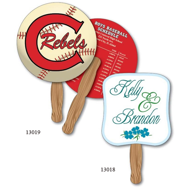 """8 1/2"""" Circle Hand Held Paper Fans"""