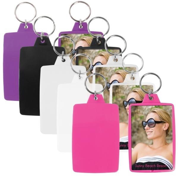 "Snap-in Key Tag, Insert Size 1 3/4"" X 2 3/4"" Photo"