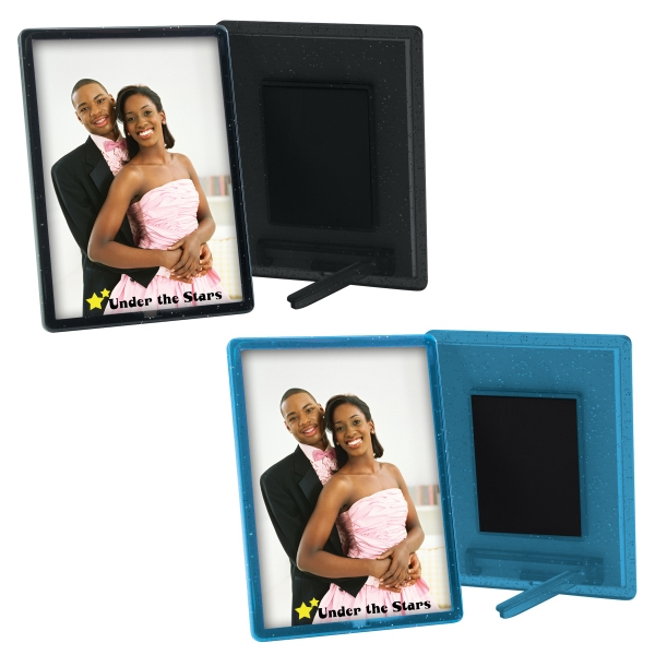 "Translucent Magnetic Snap-in Frame. Insert Size: 2 1/2"" X 3 1/2"" Photo"
