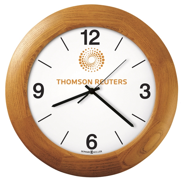 Santa Fe - Wall Clock With Champagne Oak Finish  Photo