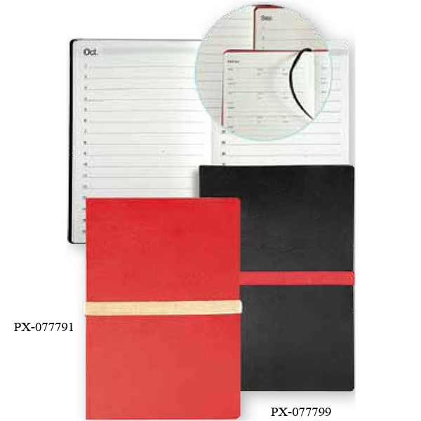 Prologue - Red Pocket Journal With Non-dated Month-in-view Pages Photo