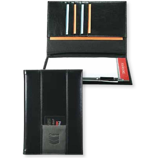 Newport - Contemporary Style Junior Padfolio With Vertical Panels Photo