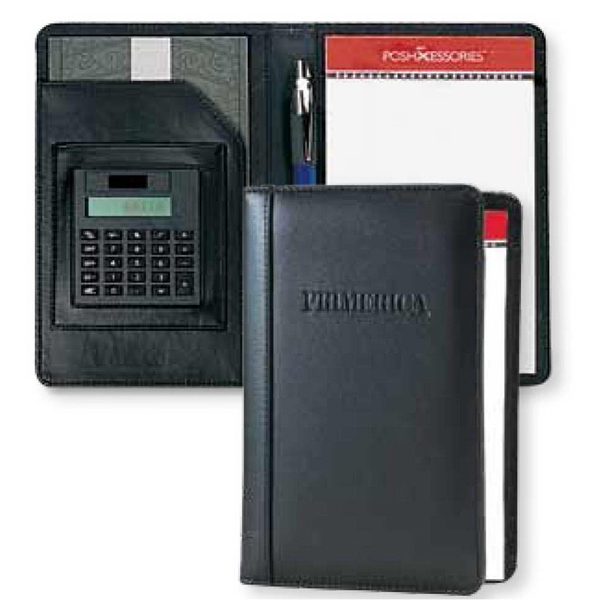 Classic - Junior Calculator Padfolio With Pen Loop And Note Pad Photo