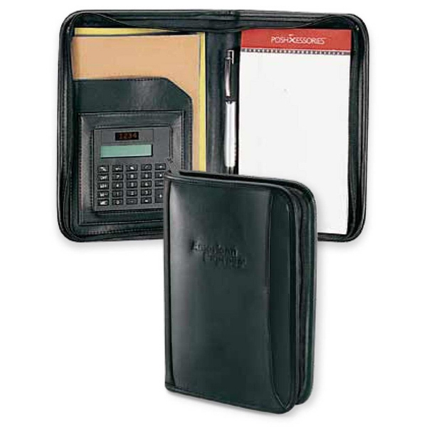 Classic - Junior Portfolio With Zipper Closure And Calculator Photo