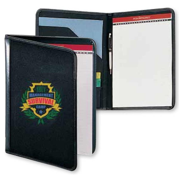 Classic Scenesetter - Stylish Denier Polyester Canvas Pad Folio With A Matching Interior Flap Pocket Photo