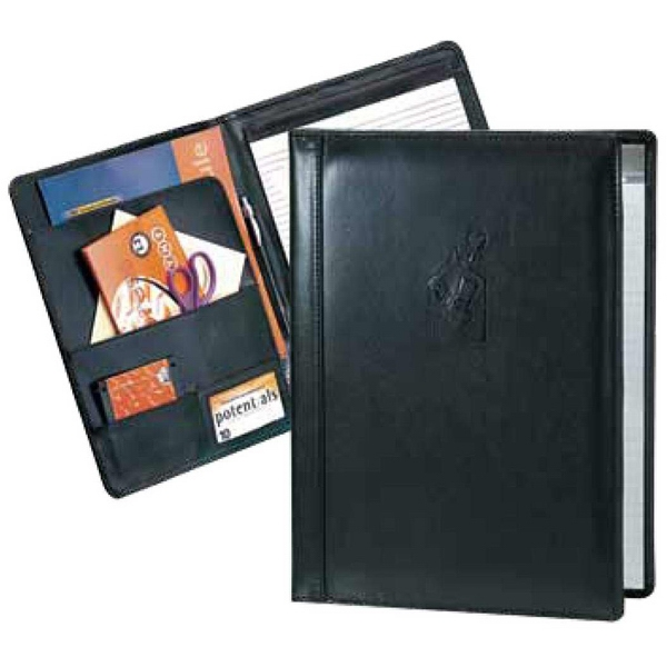 Pro Designer - Black Non Zippered Padfolio With A Straight Spine Trim Photo