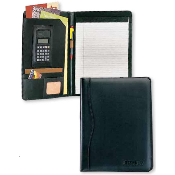 Classic - Calculator Padfolio With Large Flap Pocket And Curved Spin Trim Photo