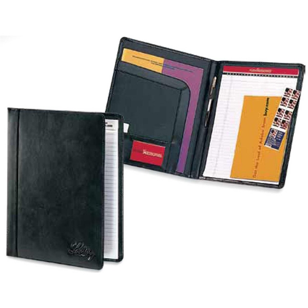 Concord - Black Cowhide Leather Padfolio With A Full Size Storage Pocket With Matching Trim Photo