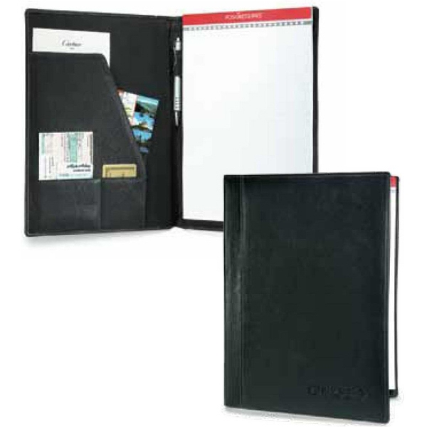 Signature - Cowhide Leather Padfolio With Reinforced Composition. Non Zippered Photo