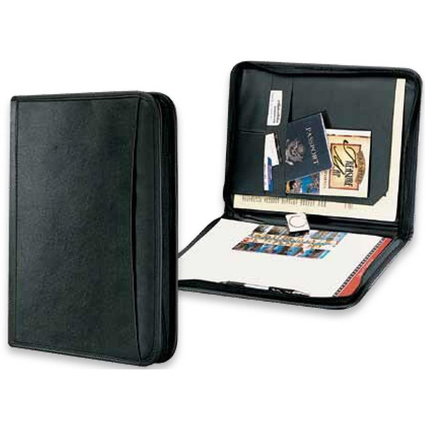 Classic Valueplus - Black Portfolio With Flap Pocket And Curved Edge Exterior Pocket Photo