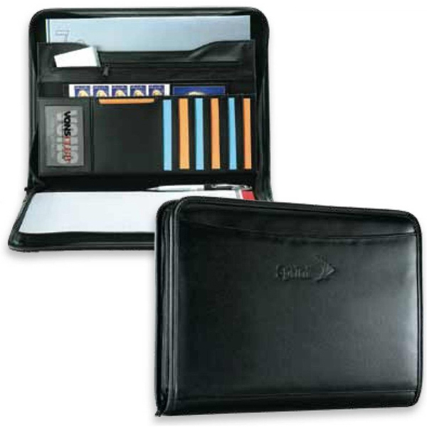 "Classic - Portfolio With 1"" Deep Gusset Organizer Pocket Photo"
