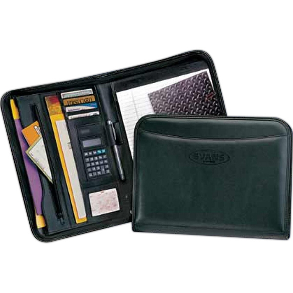 Classic - Zippered Pad Folio With 8-digit Dual Power Calculator And Notepad Photo