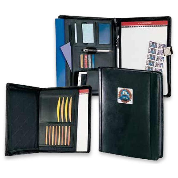 Concord - Cowhide Leather Portfolio With A Pop-up Note Holder And A Zippered Pocket Photo