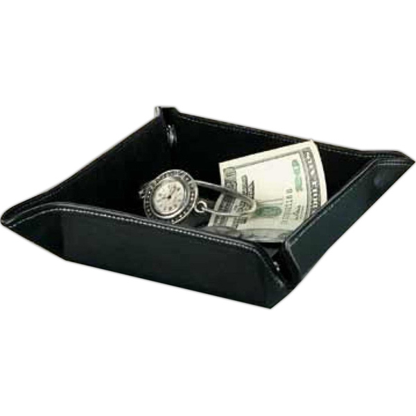 Pro Travel - Travel Valet Tray Features Soft Felt Inner Lining With Leather Accent Photo