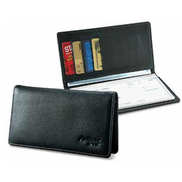 Signature - Checkbook Cover With Ample Slots For Credit And Club Cards Photo