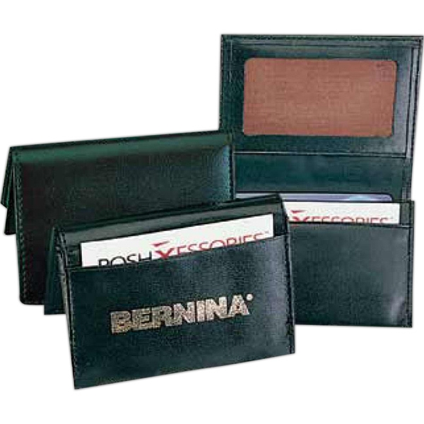 Pro Business - Pu Leather Business Card Holder With 4 Pockets To Hold More Than 40 Cards Photo