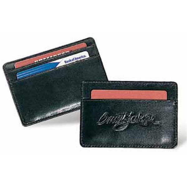 Concord - Black Leather Card Wallet With Three Card Pockets Photo