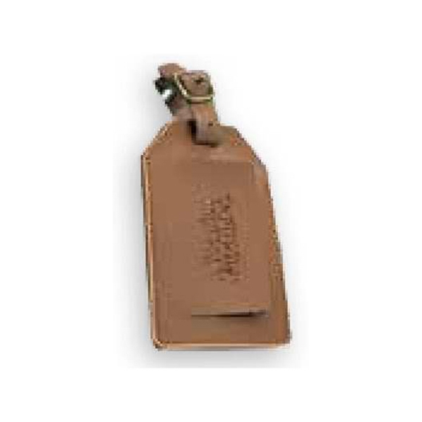 Concord - Leather Luggage Tag Features Covered I.d. Window Photo