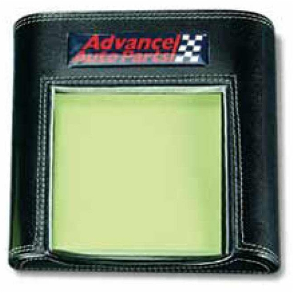 Atlantis - Black Leather Post-it Note Pad Holder Photo