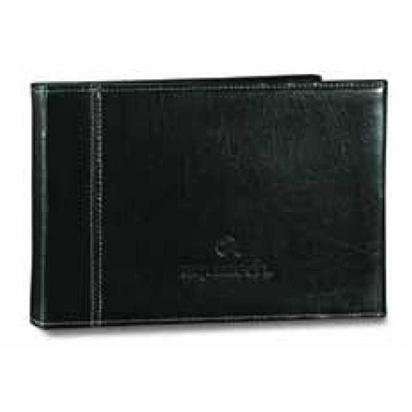 Atlantis - Black Leather Bi-fold Horizontal Photo Frame Photo