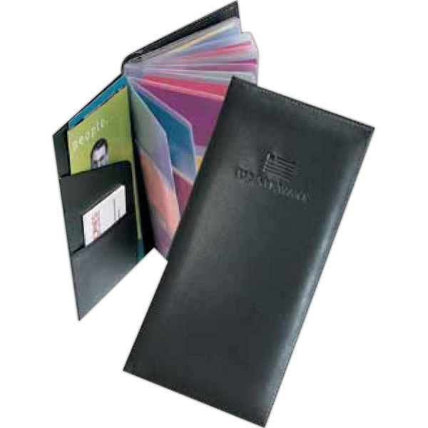 Pro Business - Pu Leather 3-row Business Card Holder Case. Holds Up To 72 Cards Photo
