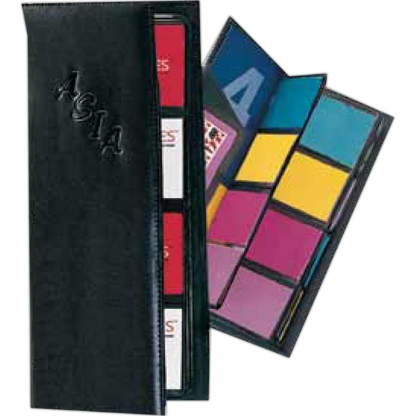 Pro Business - Pu Leather 4-row Business Card Holder Case. Holds Up To 96 Cards Photo