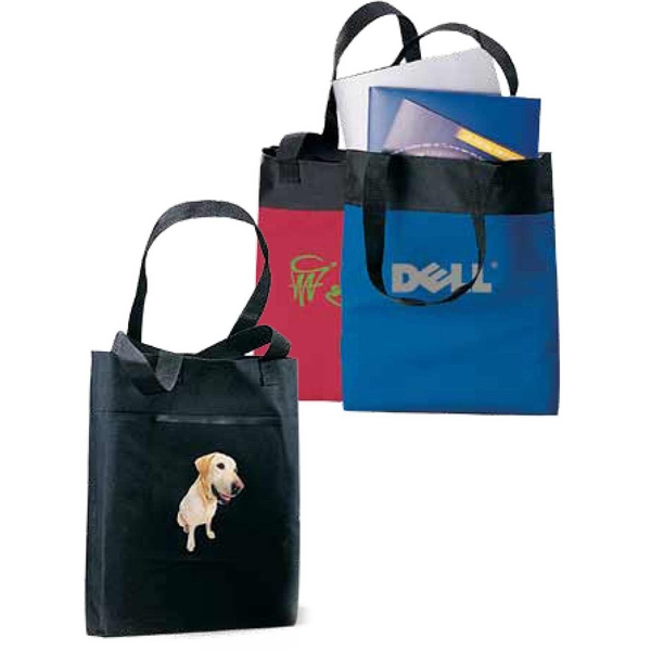 Excursion - Black - Basic Easy Access 600 Denier Polyester Canvas Tote Bag With A Classic Look And Feel Photo