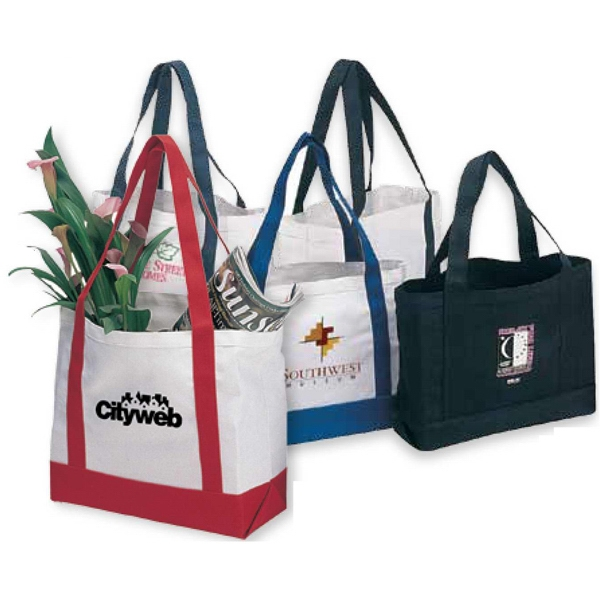 Nautical - Canvas Tote Bag Features Popular Inspired Color Trims Photo