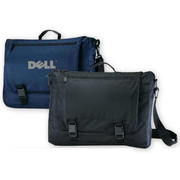 Messenger Bag With Zippered Top Load Main Compartment And Adjustable Shoulder Strap Photo