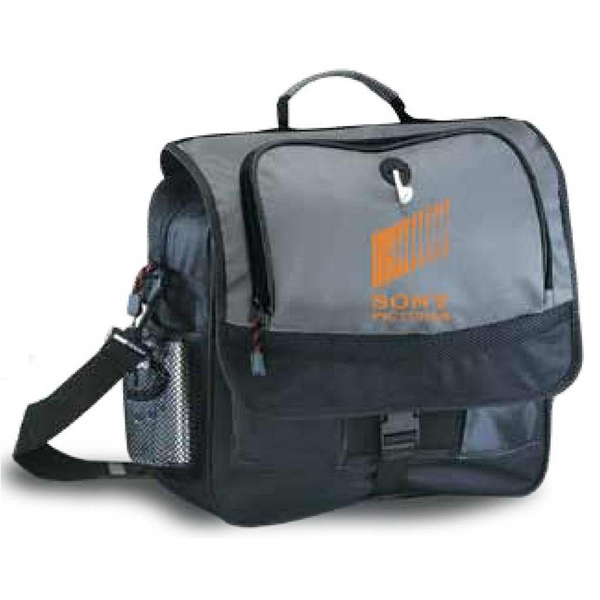Messenger Bag With 2 Mesh Pockets And Full Size File Panel Under Flap With Pockets Photo