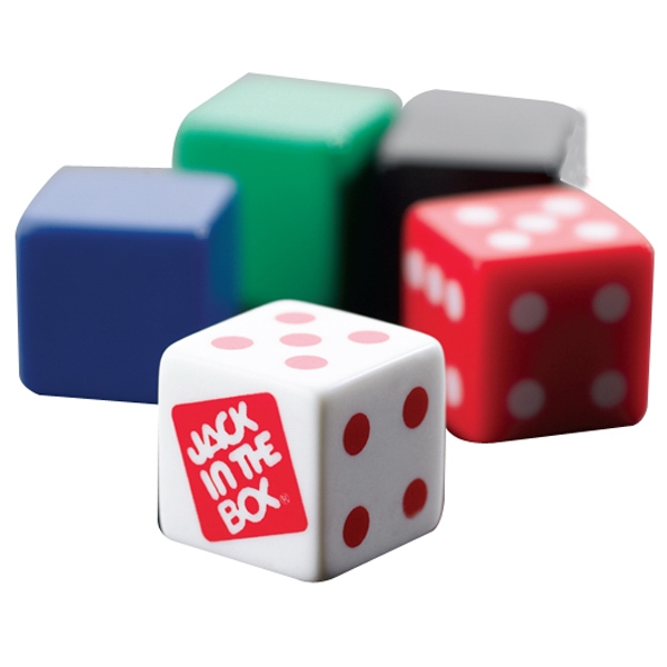 "Custom Imprinted Dice, 3/4"" (19mm) Made Of Opaque Urea Plastic Photo"
