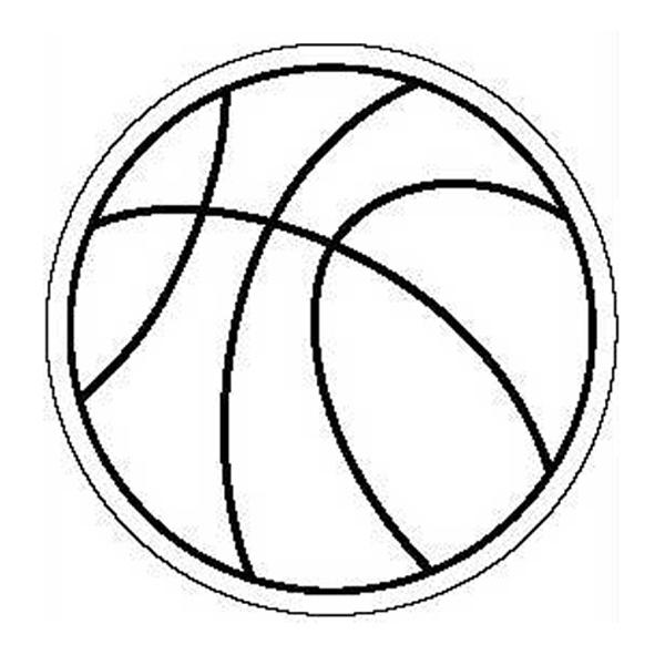 Basketball Stock Shape Magnet