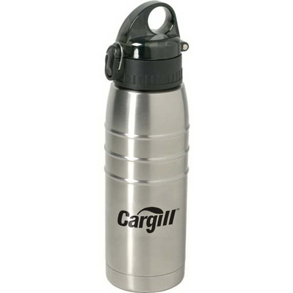 Single Wall Stainless Steel Water Bottle, 24 Oz Photo