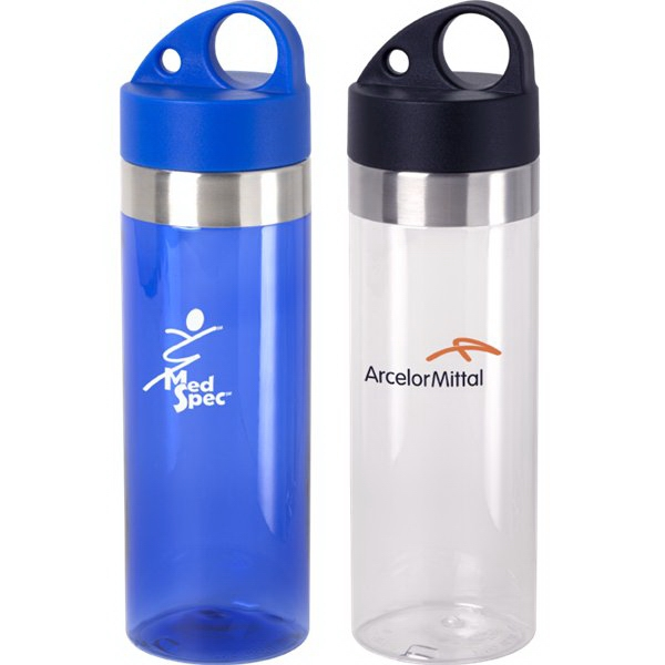 Aqua - 24 Oz Water Bottle With Stainless Steel Accent Photo